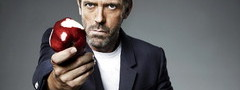хью лори, hugh laurie, house, яблоко, house md