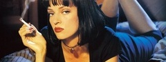 pulp fiction, uma thurman, сигарета