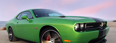 Dodge, Challenger SRT8 392, зеленый