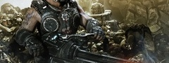 gears of war 3, солдат, оружие