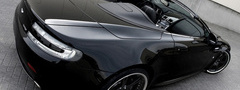 aston, martin, Vantage, V8, back, side