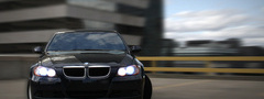 bmw, black, car