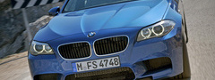 bmw m5 2011, ������, ������, ��������, ��������, car, road, driver, speed,  ...