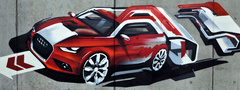 graffiti, audi, wall, texture, ��������, ������, �����, �������