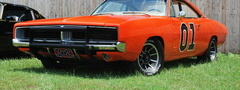 car, orange, dodge, muscle car, general lee
