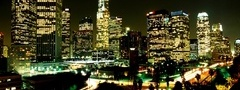 city, night, lights, LA