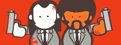 pulp fiction, movie, wallpaper, vincent and jules, funny