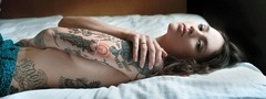 sexy, beauty, girl, tattoo, fashion, ira chernova
