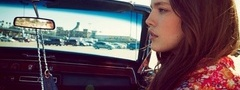 pretty, girl, in a car, emily didonato
