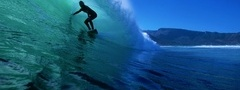 surfer, on a, wave