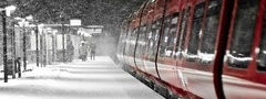 winter, in the, train, station