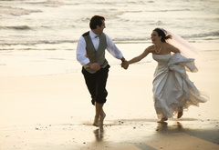 wedding, love, feelings, the couple, sea, beach