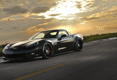 Corvette, 360 Forged, закат