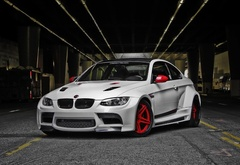 bmw, car, thuning, m3, white