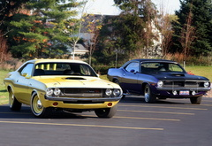 muscle cars, dodge, challenger, rt, plymouth, barracuda