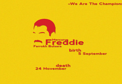 freddie, mercury, we, are, the, champions