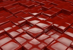 Cubes, render, red