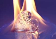 heart, fire, ice, fire