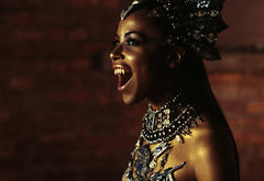 queen of the damned, movie, vampire, girl, aaliah, actress