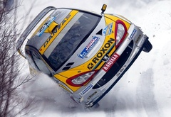 rally, winter, crash