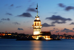 Istanbul, maiden, is, tower, see