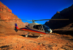 Helicopter, in, Grand, Canyon