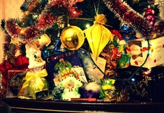 The new year gifts, christmas tree, holiday, new year