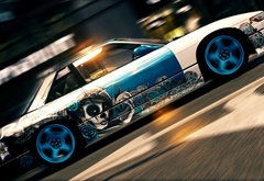 Cars, speed, graffiti