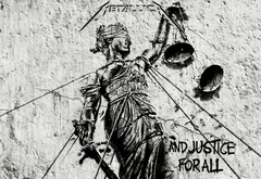 metallica, and justice for all, весы, лого, рок, музыка
